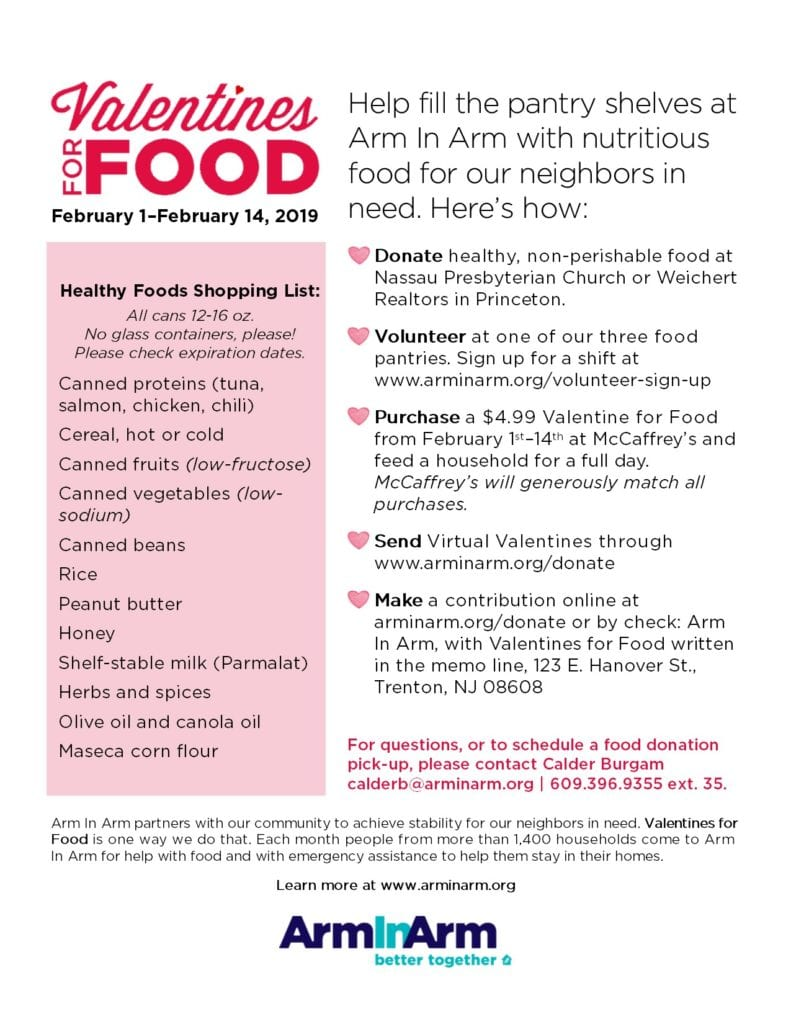Arm in Arm Hosting Annual Valentines for Food Drive