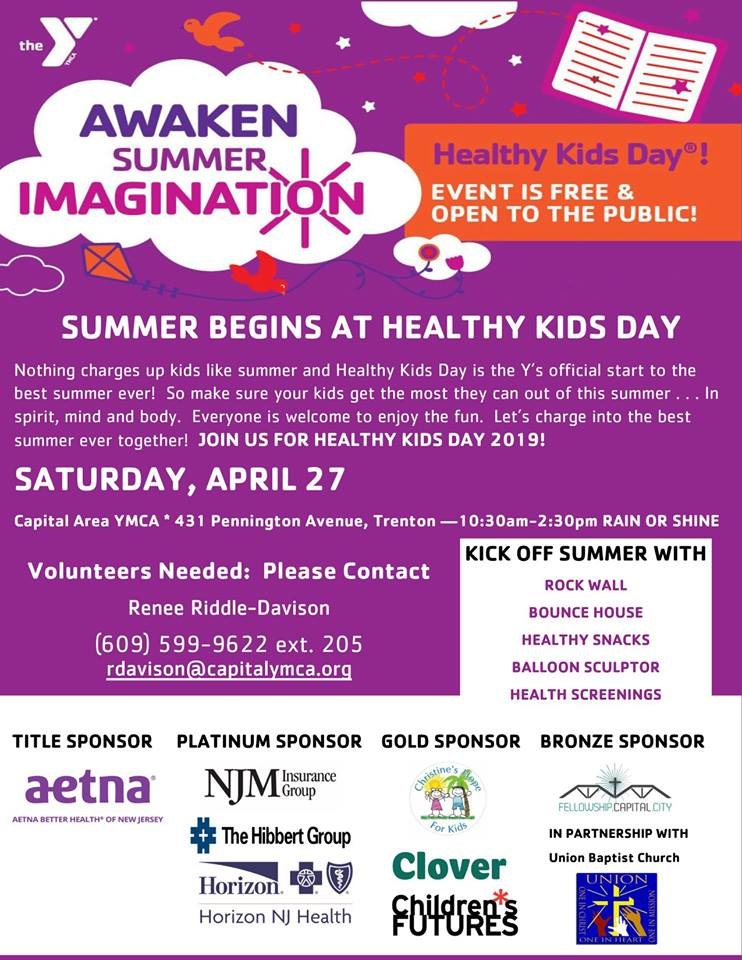 Capital Area YMCA to Celebrate Healthy Kids Day on April